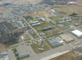 aerial view of former CFB Penhold