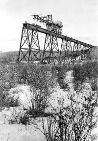 Alberta Central Railway Mintlaw bridge under construction 1911