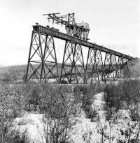 construction of the Alberta Central Mintlaw steel trestle 1911
