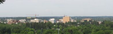 Red Deer downtown skyline