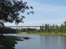 Alberta Central steel railway trestle