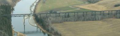 Alberta Central Mintlaw steel trestle over Red Deer River