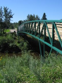 Blindman River bridge built 2010