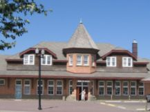 historic CPR station downtown Red Deer