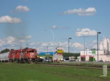 Canadian Pacific freight train at Lacombe
