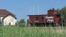 CP caboose at Penhold