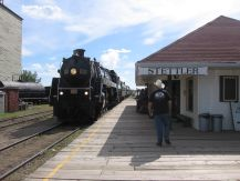 Stettler train excursion with 6060