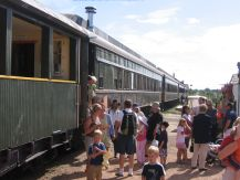 tourist passenger train Stettler