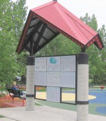 Trans Canada Trail pavilion Bower Ponds Red Deer