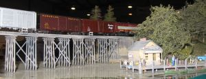 model rail interpretive display