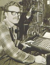 Paul at linotype at father's newspaper